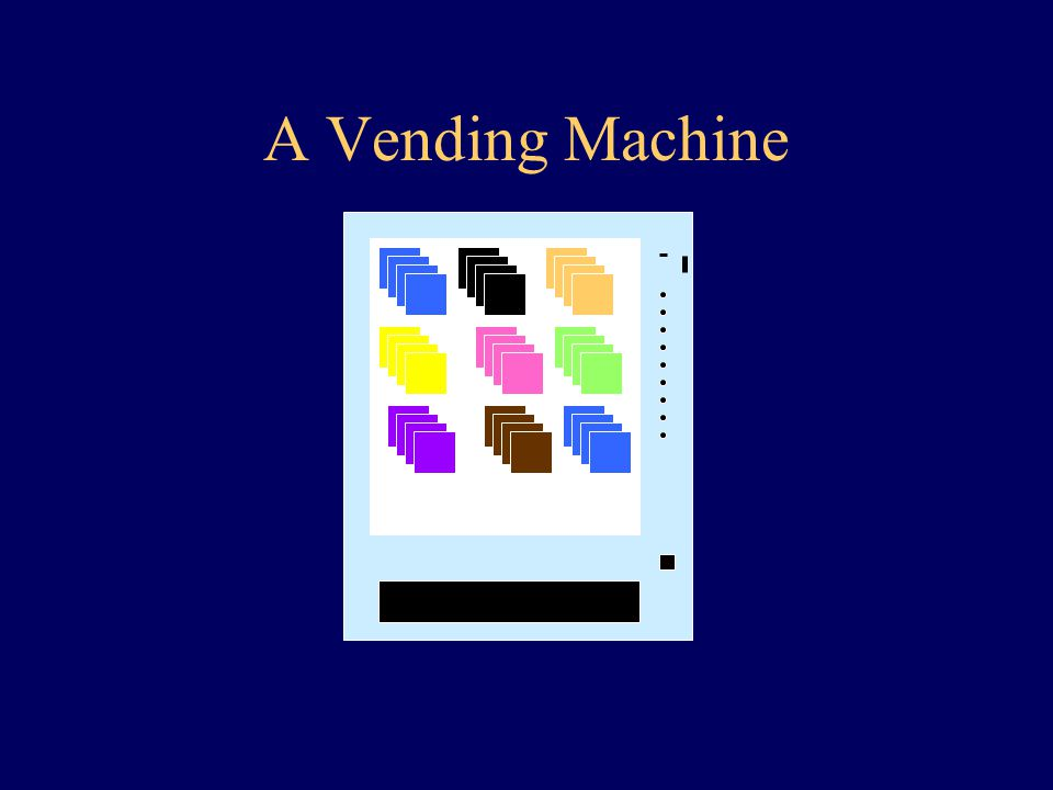 A Vending Machine An Example of an Embedded System