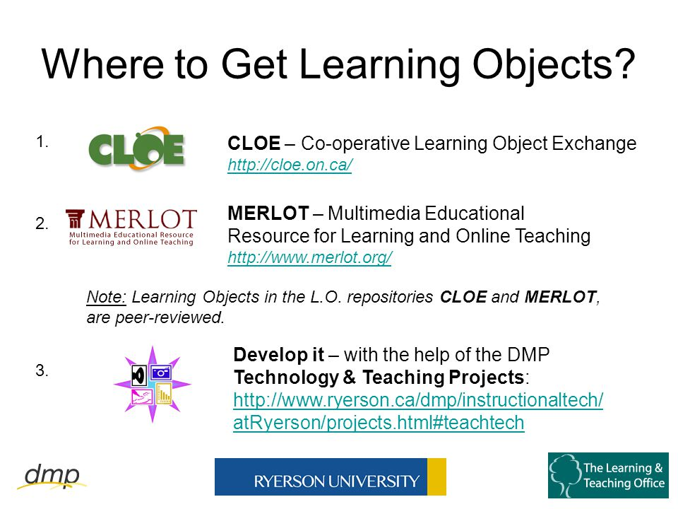 Where to Get Learning Objects.
