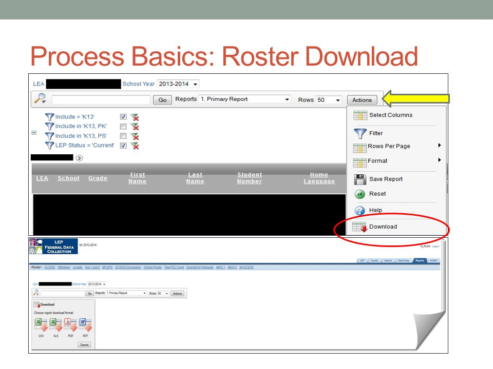 Process Basics: Roster Download