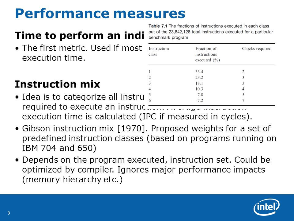 33 Performance measures Time to perform an individual operation The first metric.