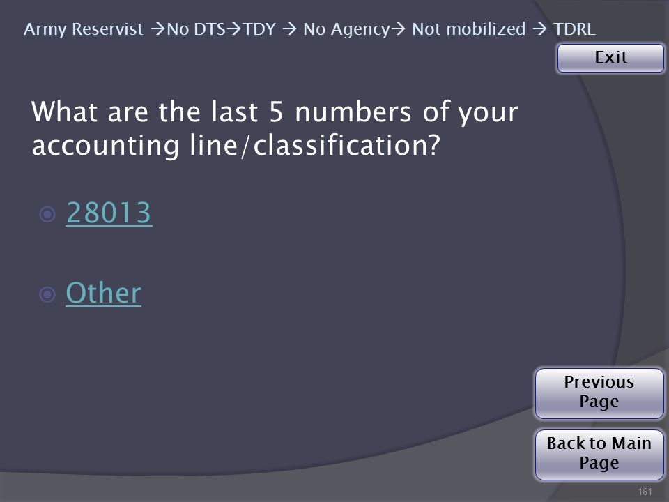 What are the last 5 numbers of your accounting line/classification.