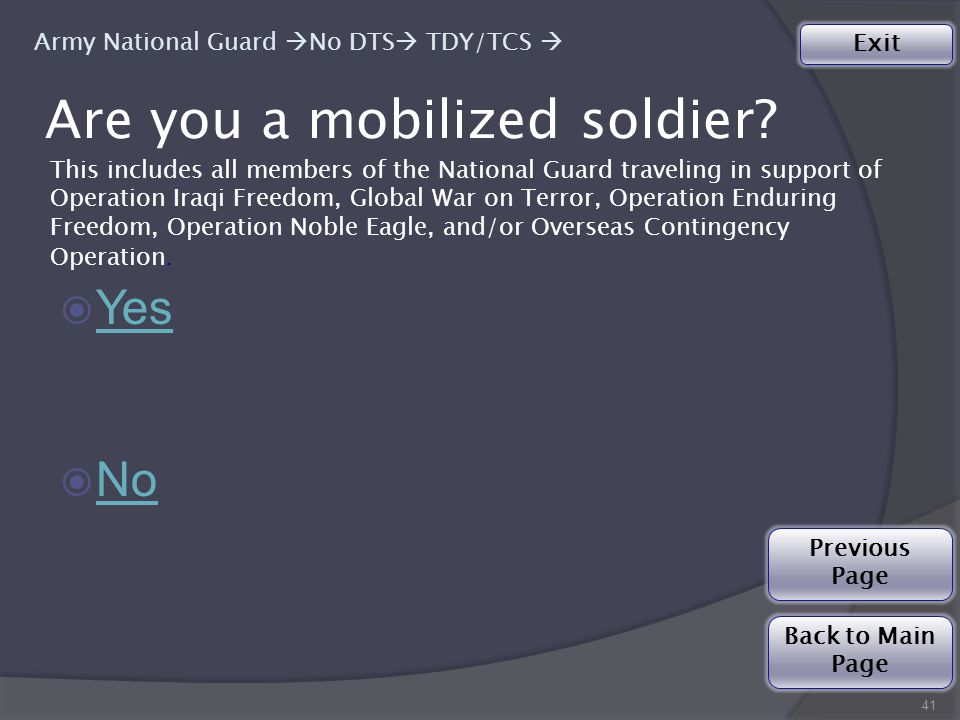 Are you a mobilized soldier.