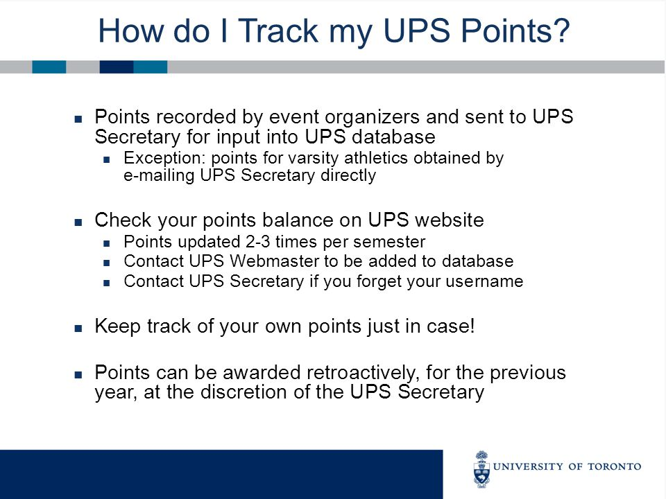 How do I Track my UPS Points.
