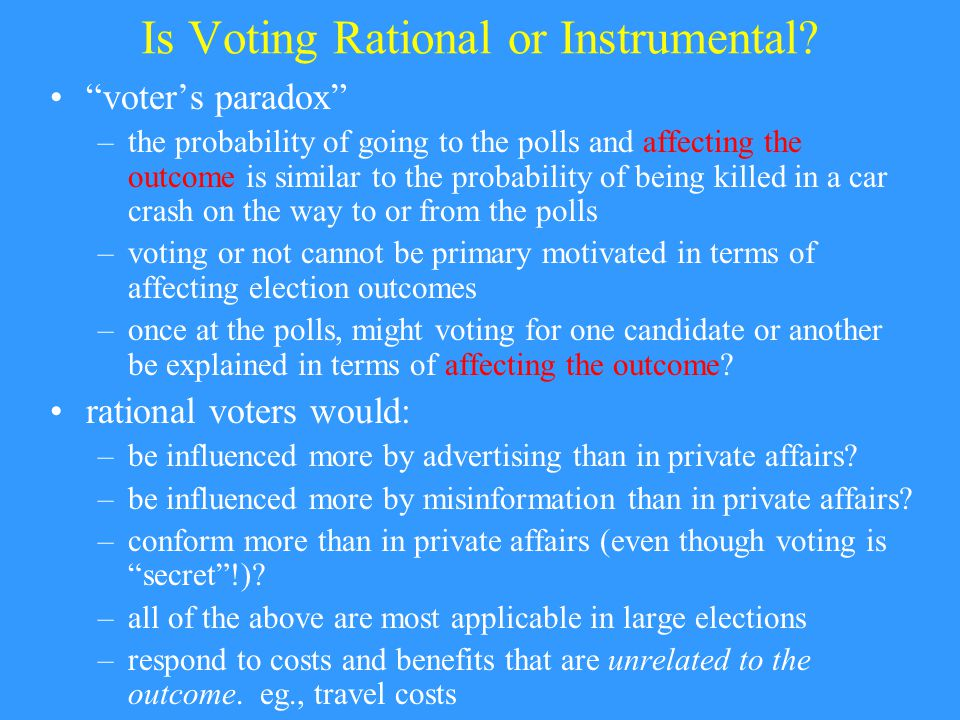 Is Voting Rational or Instrumental.
