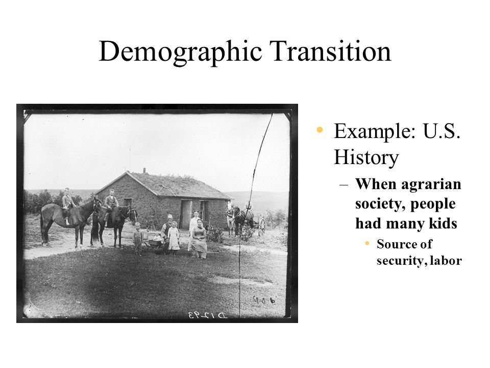 Demographic Transition Example: U.S.