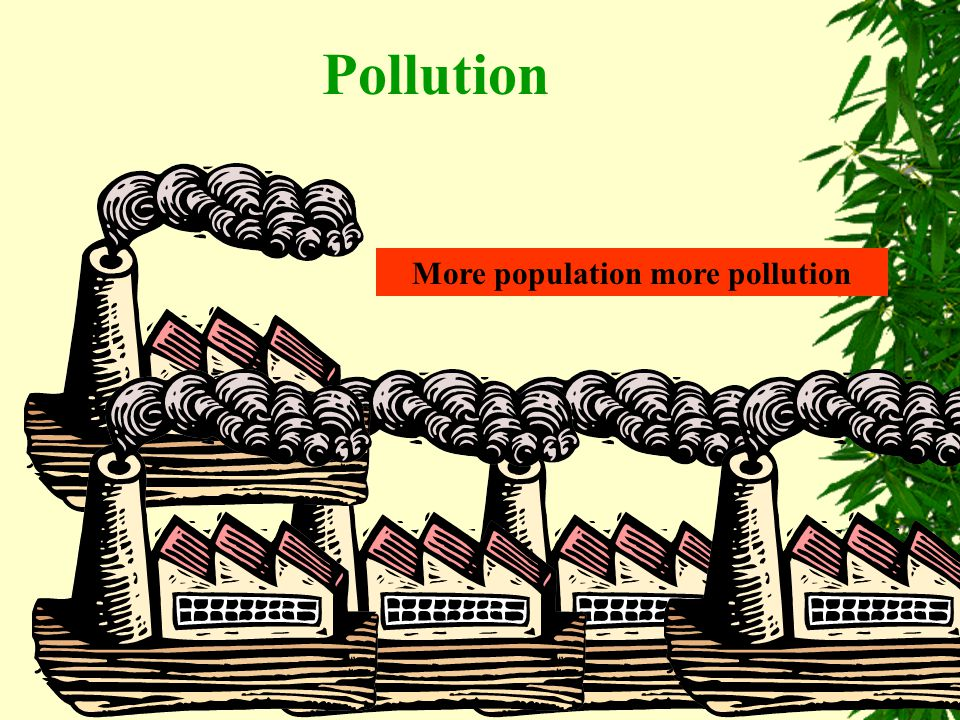 More population more pollution Pollution