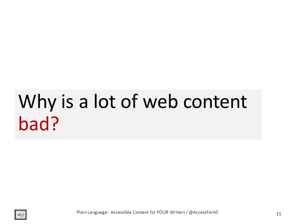 Why is a lot of web content bad.