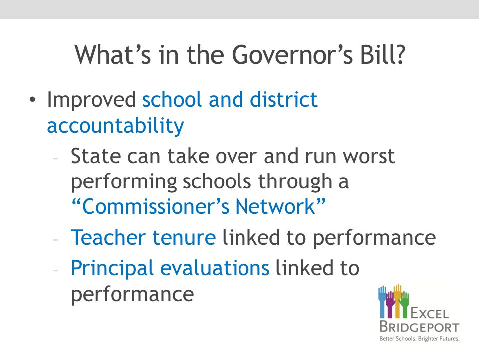 What's in the Governor's Bill.