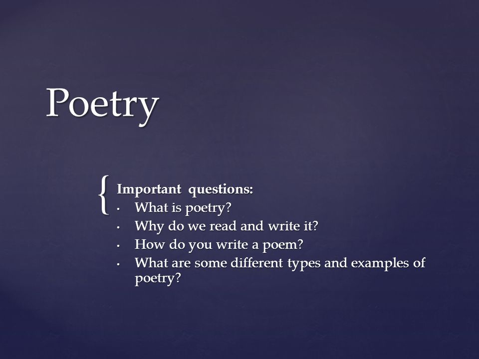 how to properly write a poem
