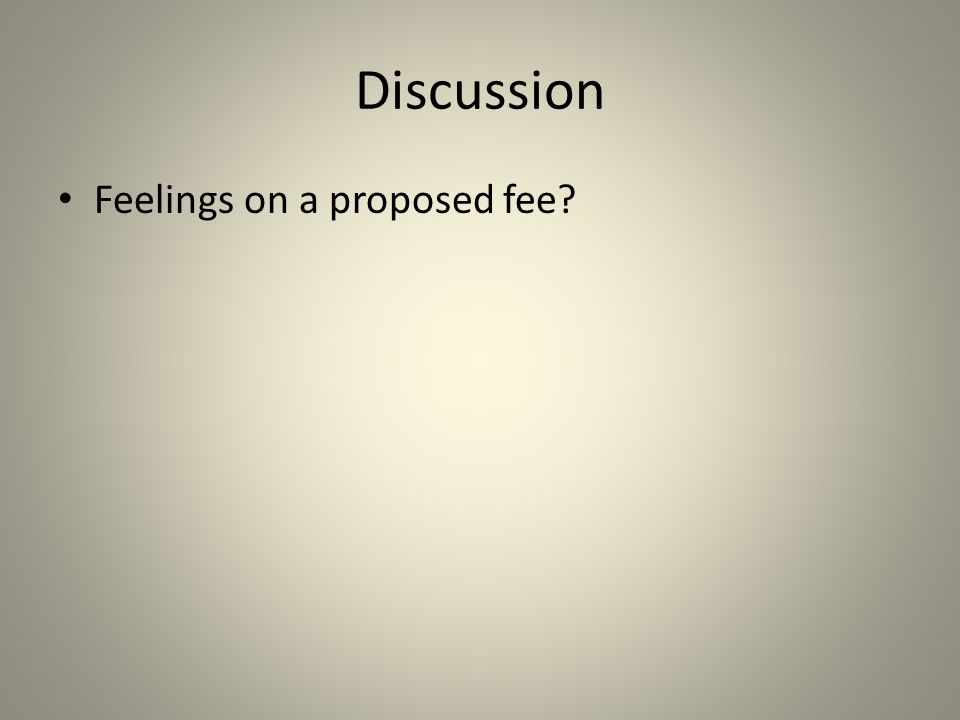 Discussion Feelings on a proposed fee