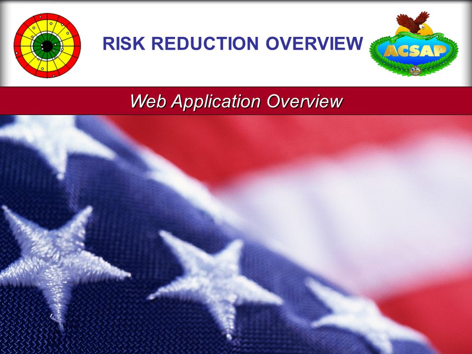 Web Application Overview RISK REDUCTION OVERVIEW