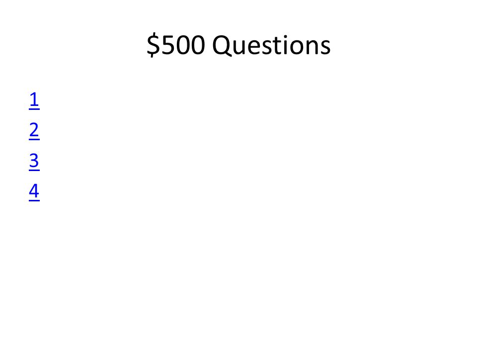 $500 Questions 12341234