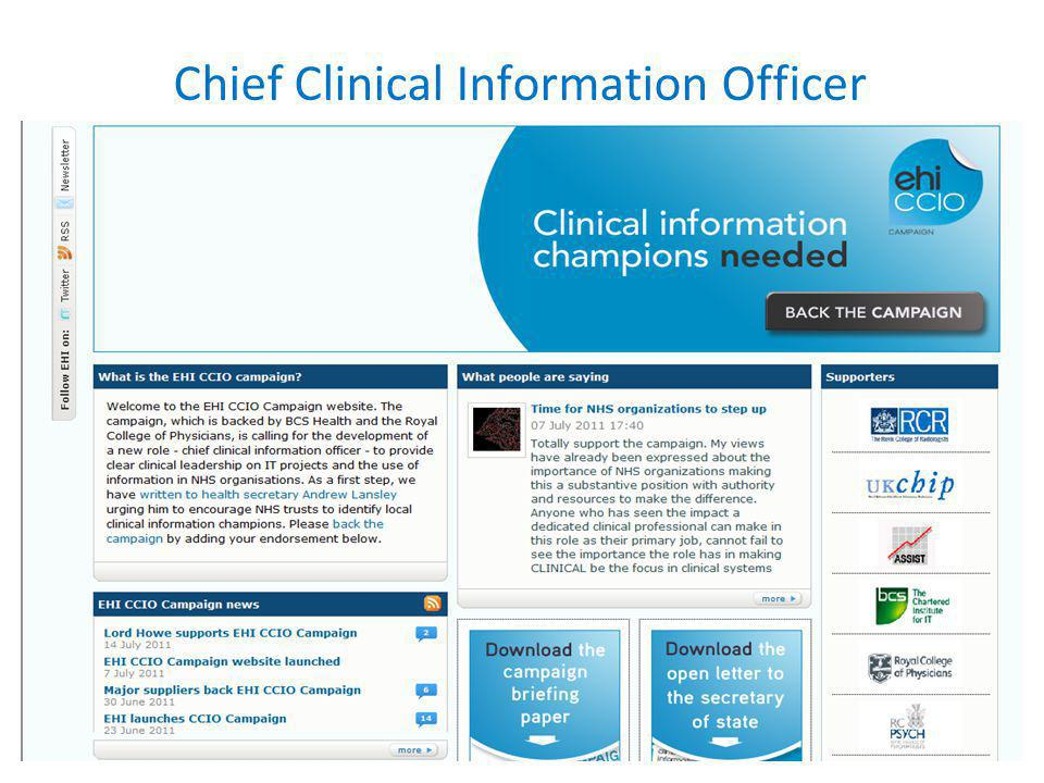 Chief Clinical Information Officer