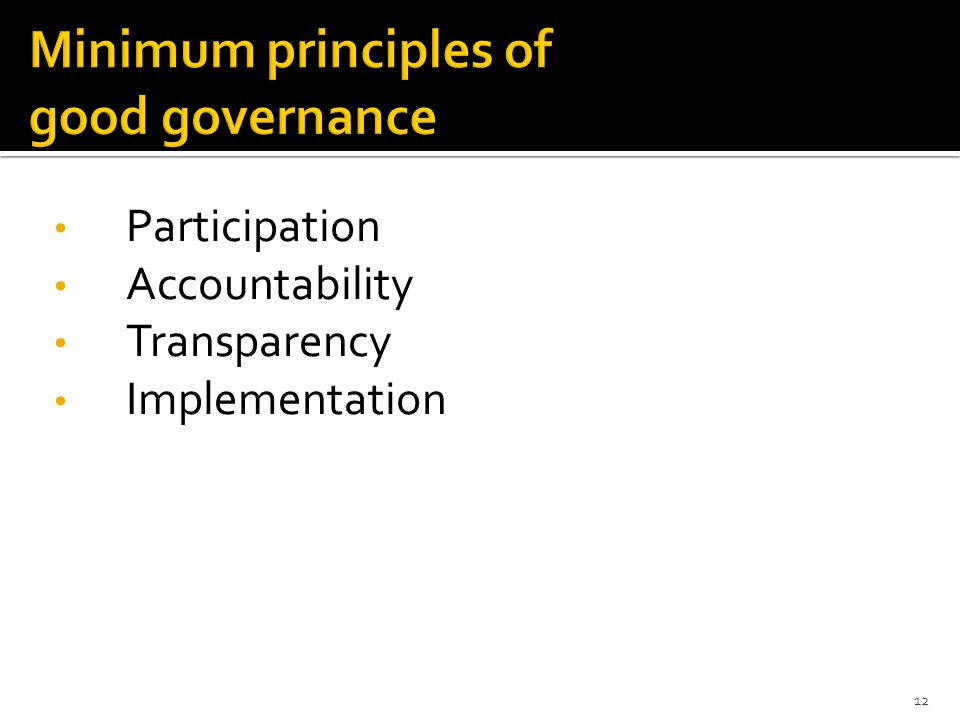 Participation Accountability Transparency Implementation 12