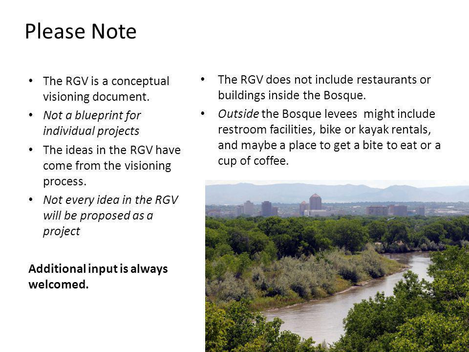 The RGV does not include restaurants or buildings inside the Bosque.