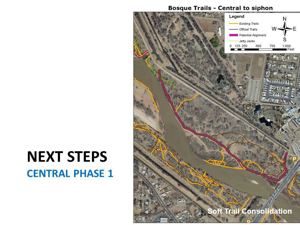 NEXT STEPS CENTRAL PHASE 1 Soft Trail Consolidation