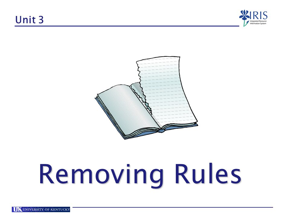 Unit 3 Removing Rules
