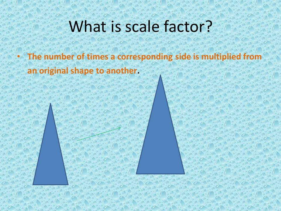 What is scale factor.