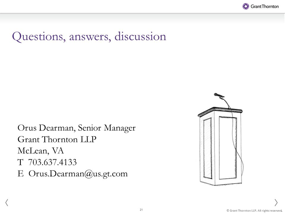 21 © Grant Thornton LLP. All rights reserved.