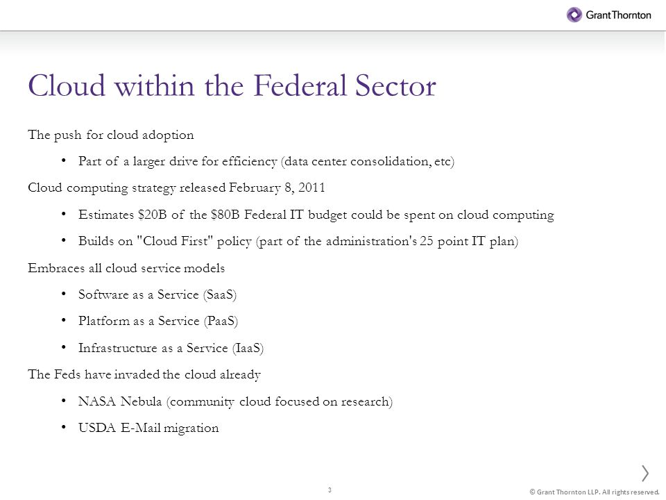 3 © Grant Thornton LLP. All rights reserved.