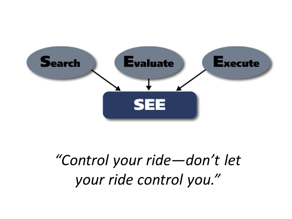 Control your ride—don't let your ride control you.