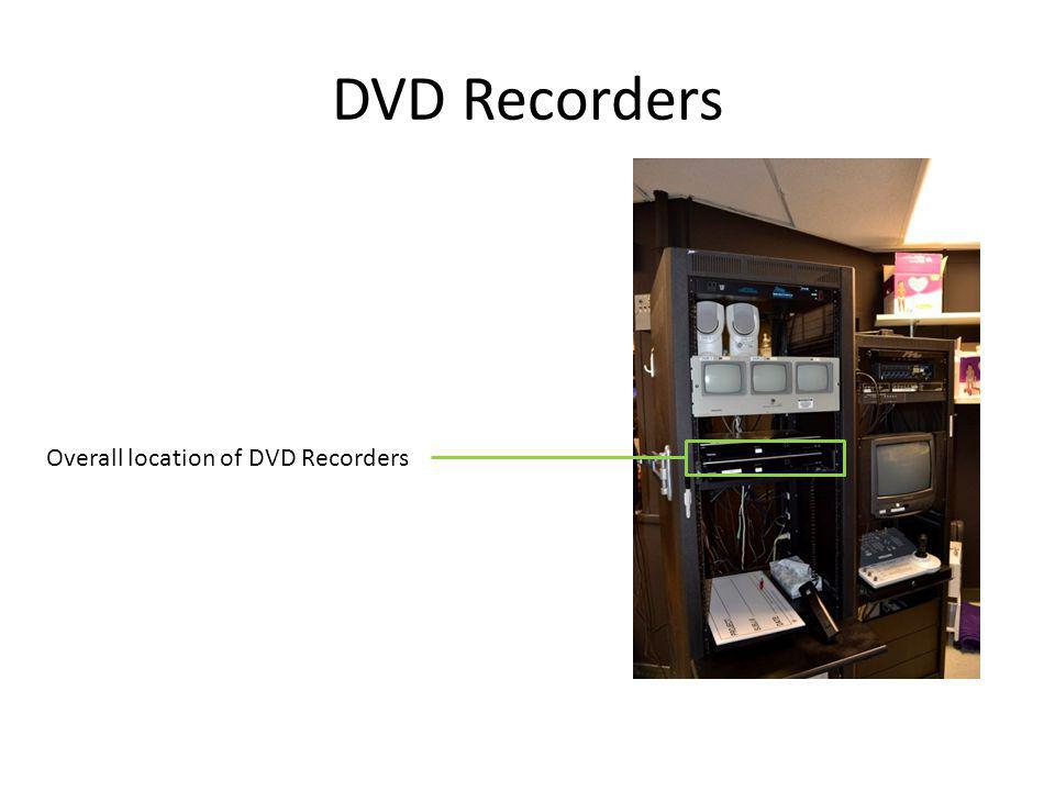 DVD Recorders Overall location of DVD Recorders