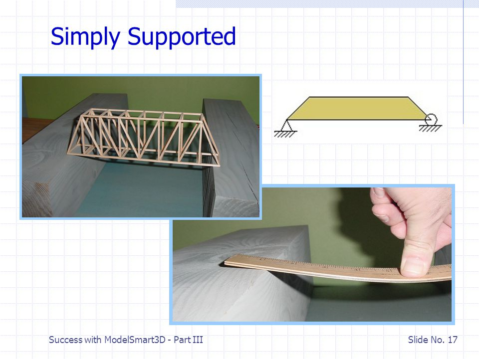 Success with ModelSmart3D - Part III Slide No. 16 III. Creating a Computer Model