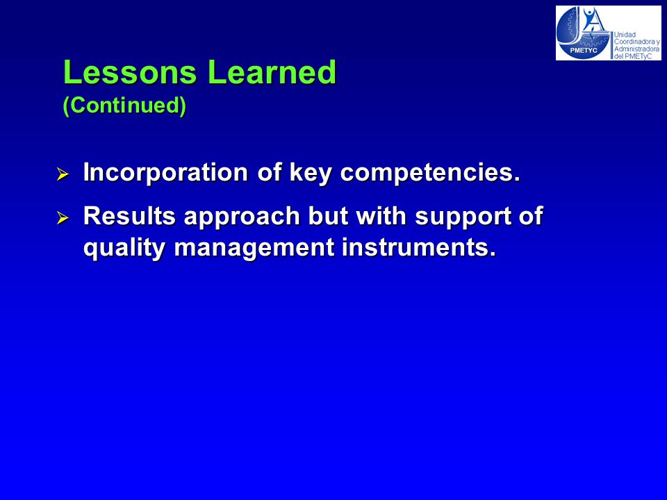  Incorporation of key competencies.