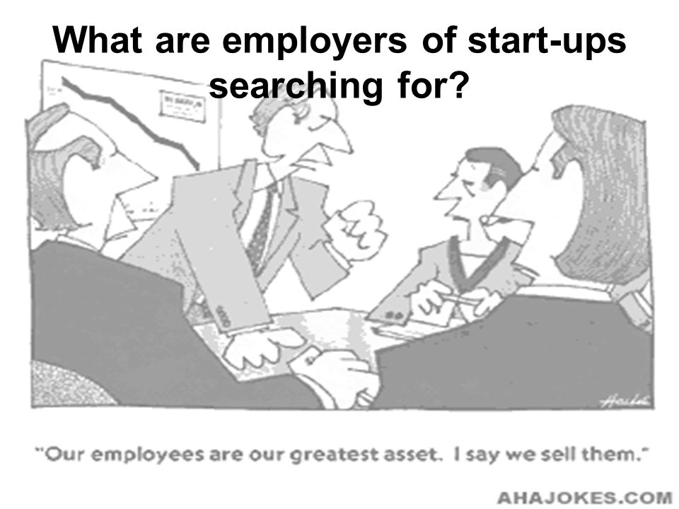 What are employers of start-ups searching for
