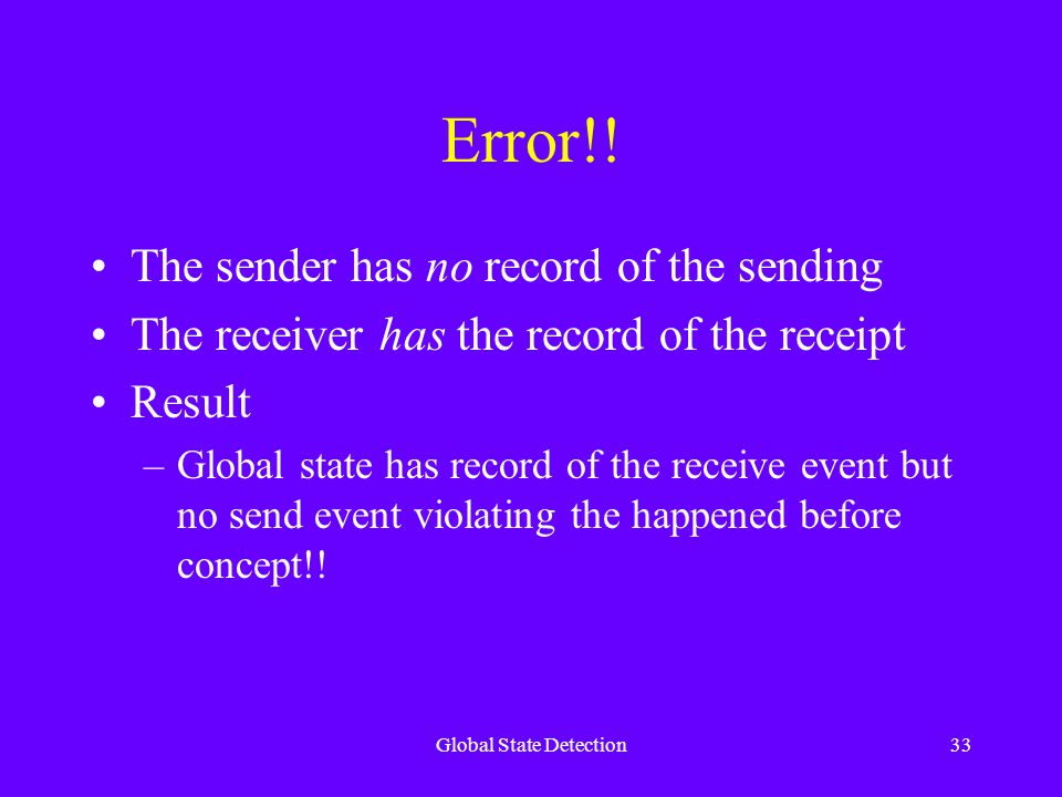 Global State Detection33 Error!.
