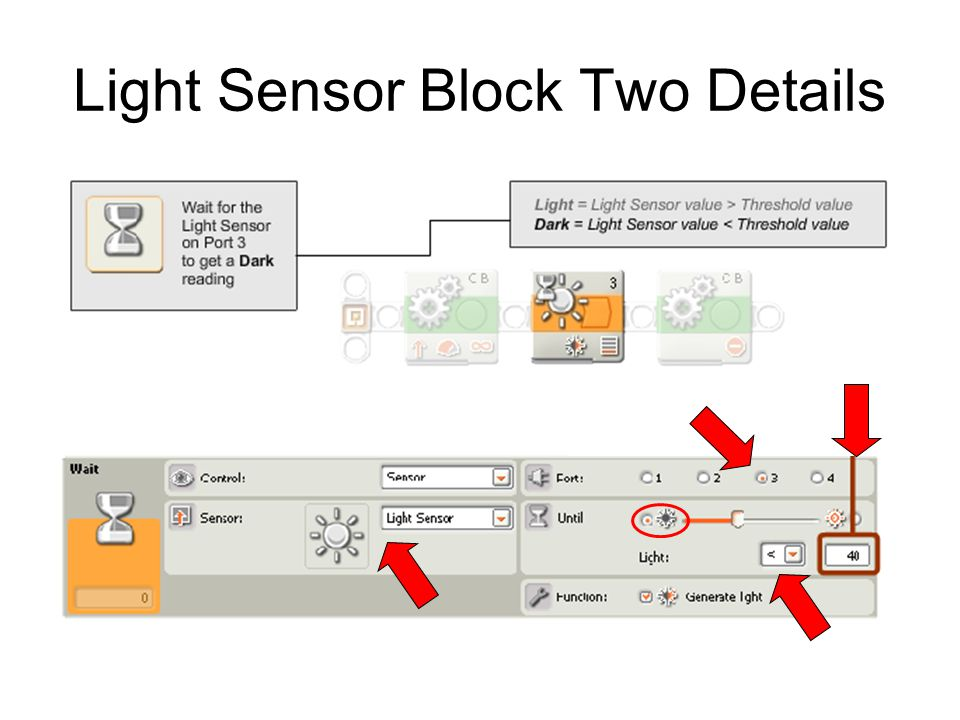 Light Sensor Block Two Details