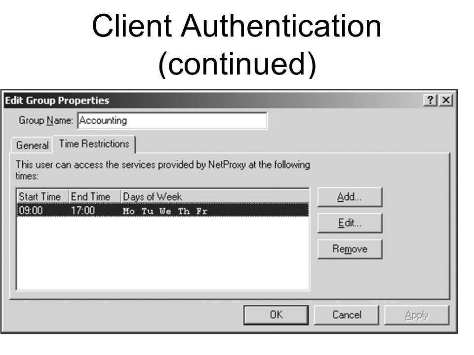 Client Authentication (continued)
