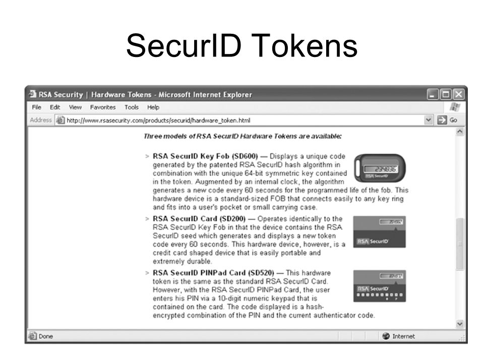 SecurID Tokens