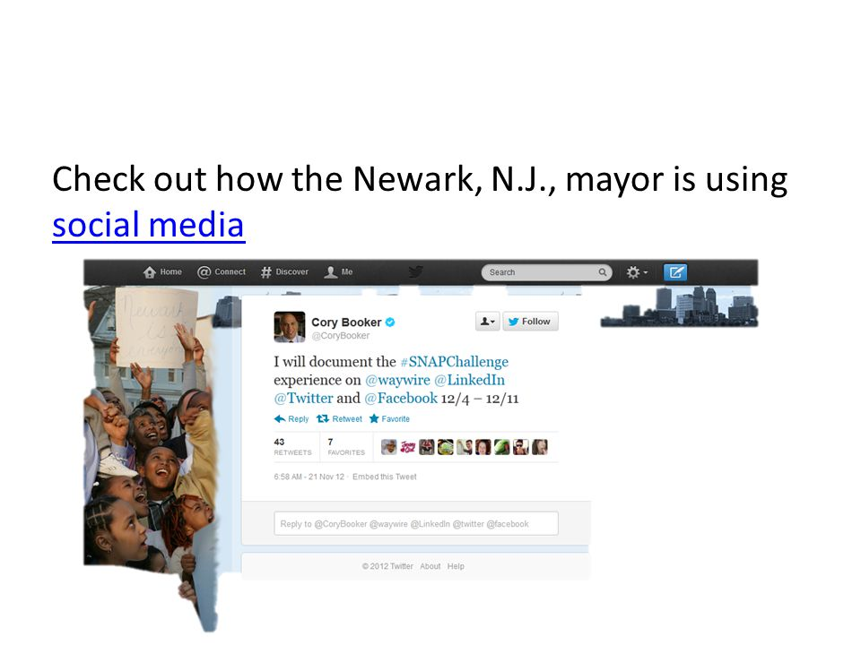 Check out how the Newark, N.J., mayor is using social media social media