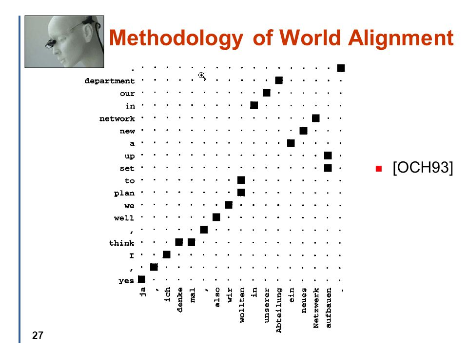 27 Methodology of World Alignment [OCH93]
