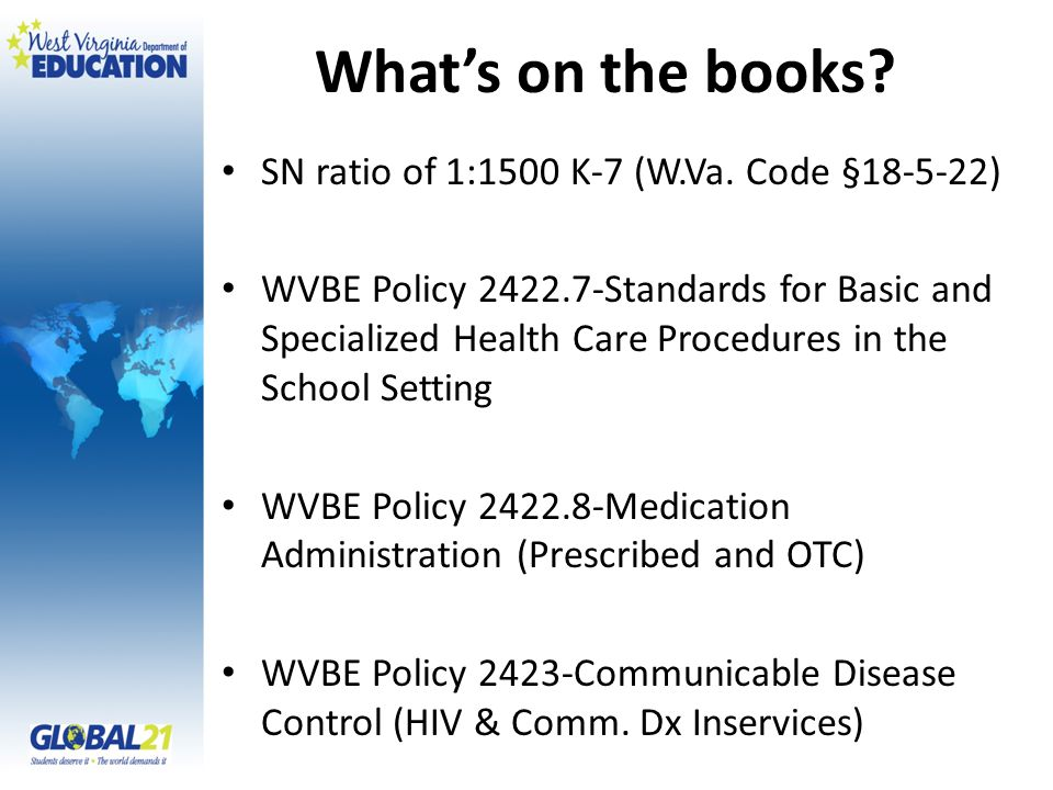 What's on the books. SN ratio of 1:1500 K-7 (W.Va.