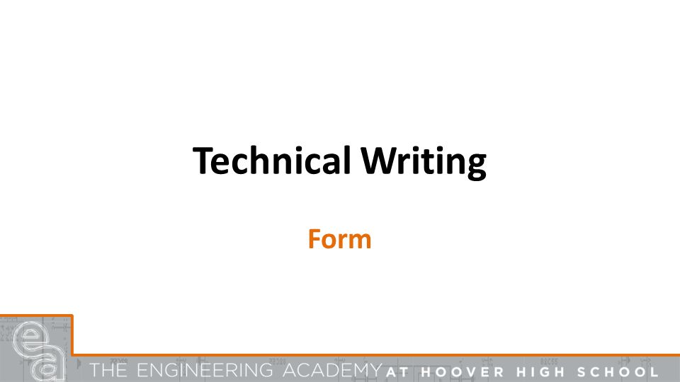 Technical Writing Form