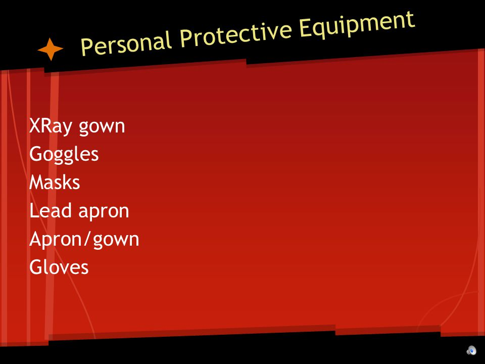Personal Protective Equipment XRay gown Goggles Masks Lead apron Apron/gown Gloves