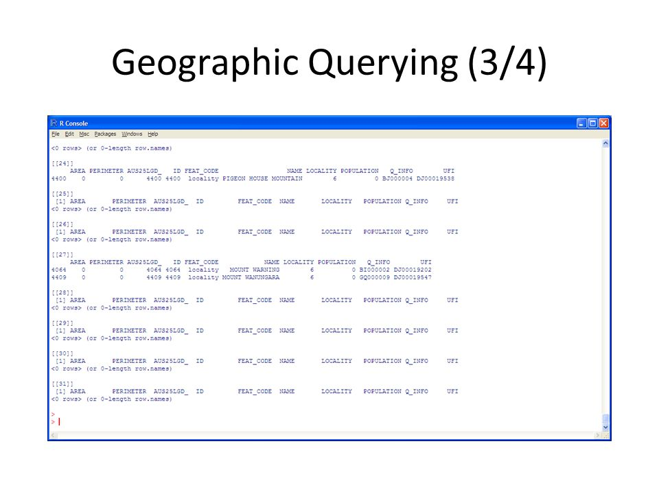 Geographic Querying (3/4)