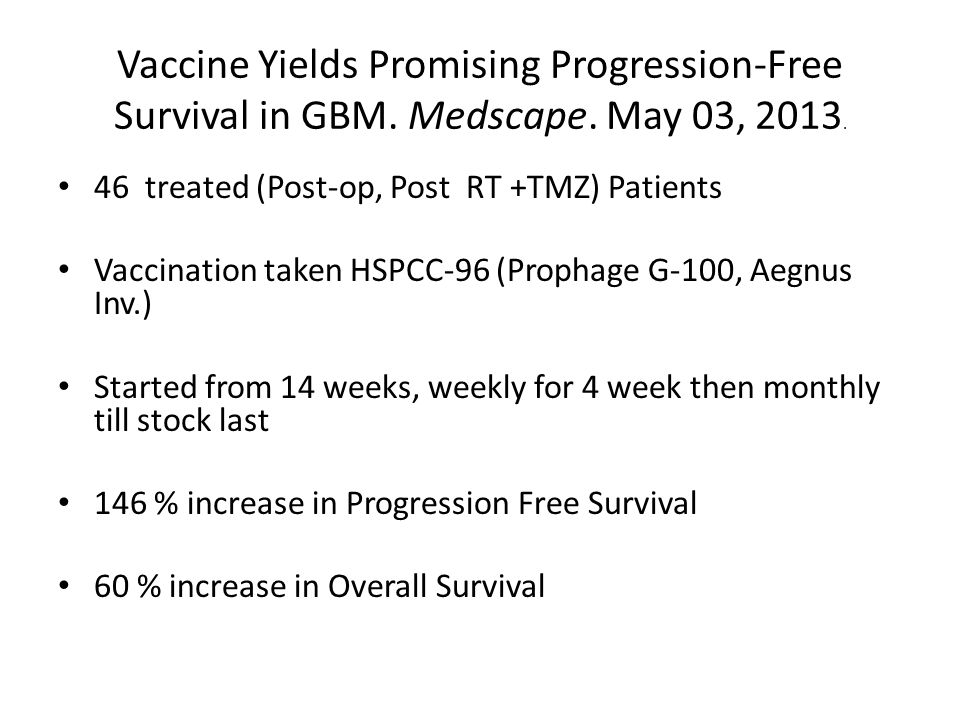 Vaccine Yields Promising Progression-Free Survival in GBM.