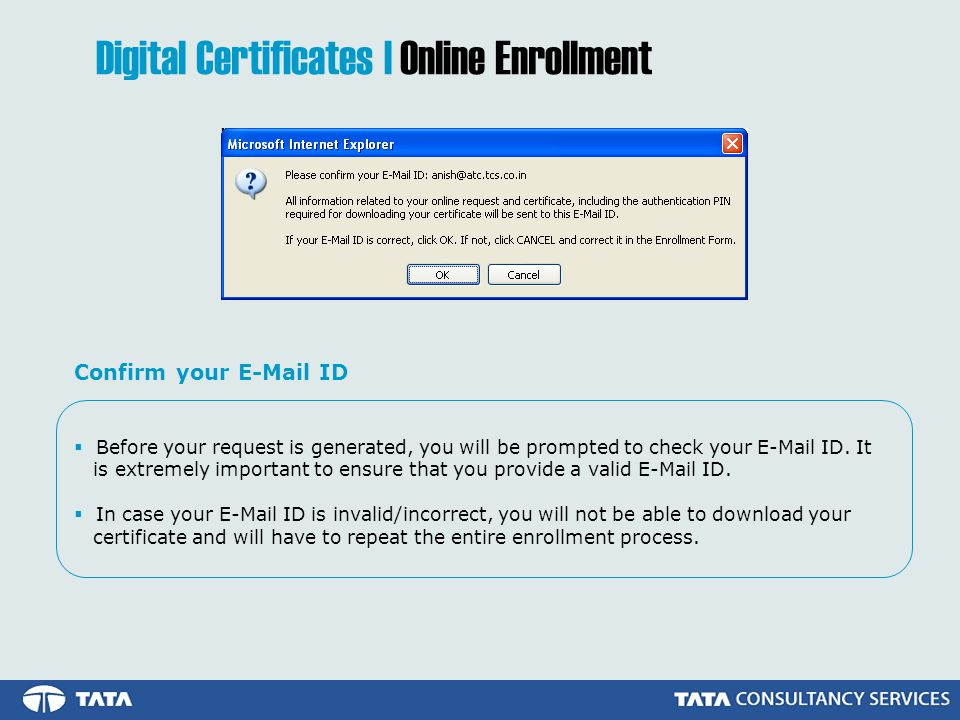  Before your request is generated, you will be prompted to check your  ID.