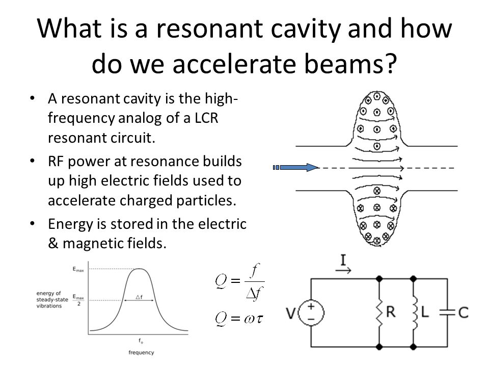 What is a resonant cavity and how do we accelerate beams.