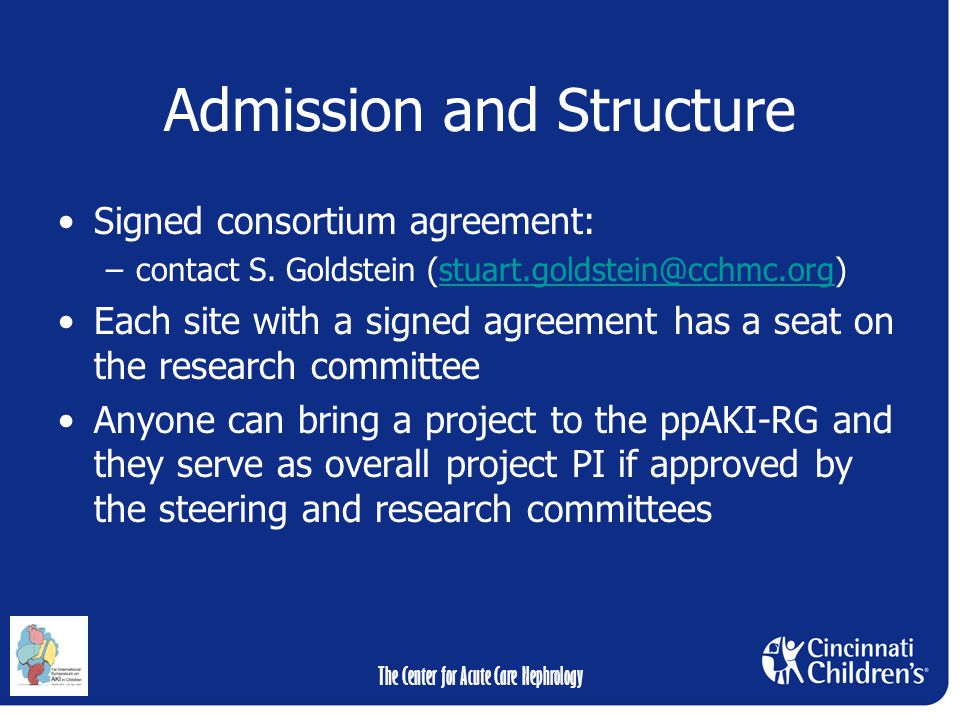 Admission and Structure Signed consortium agreement: –contact S.