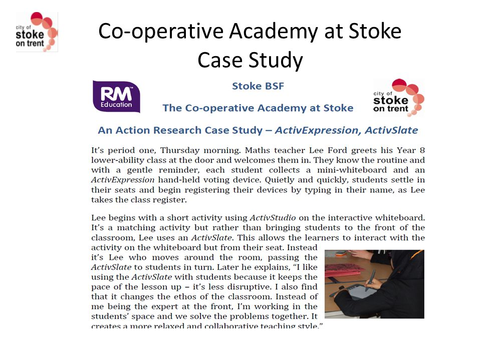 Co-operative Academy at Stoke Case Study