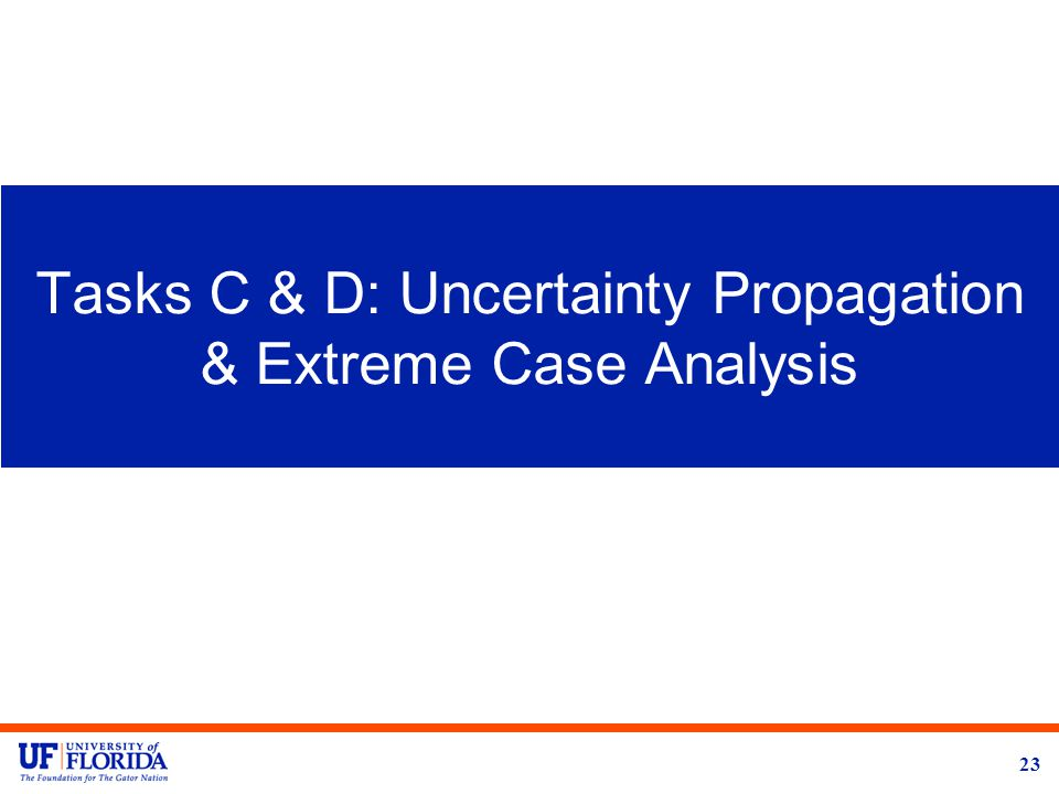 Tasks C & D: Uncertainty Propagation & Extreme Case Analysis 23