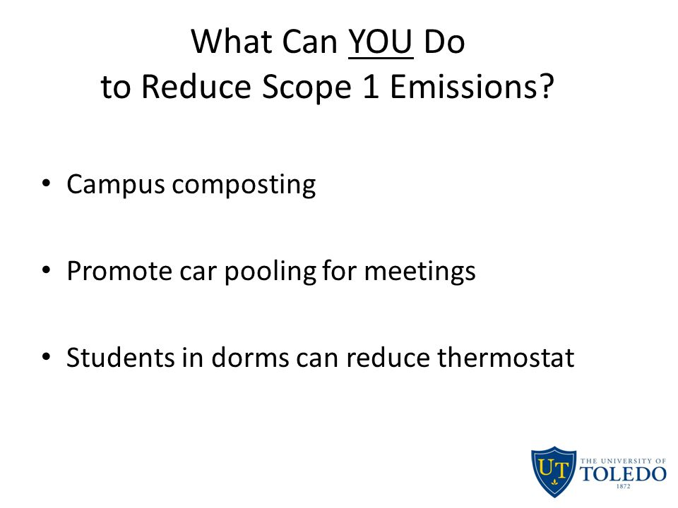 What Can YOU Do to Reduce Scope 1 Emissions.