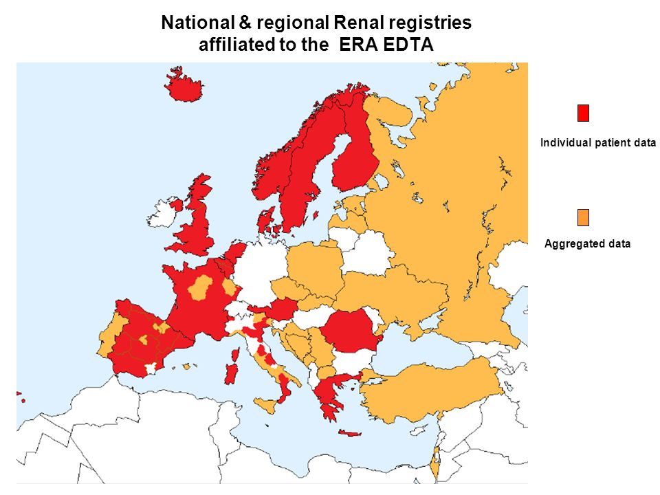 National & regional Renal registries affiliated to the ERA EDTA.