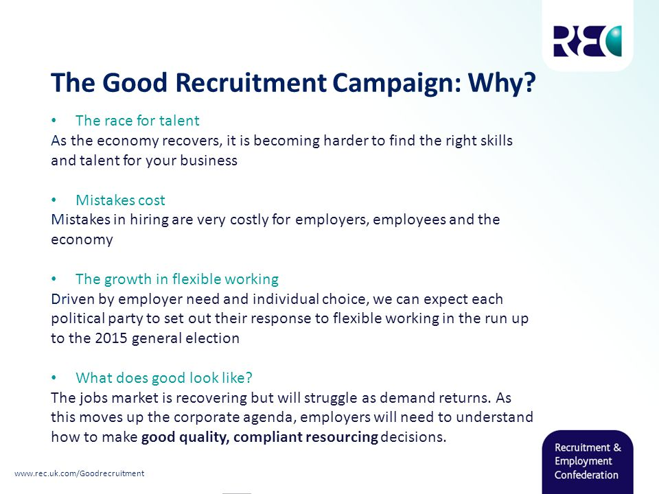 The Good Recruitment Campaign: Why.