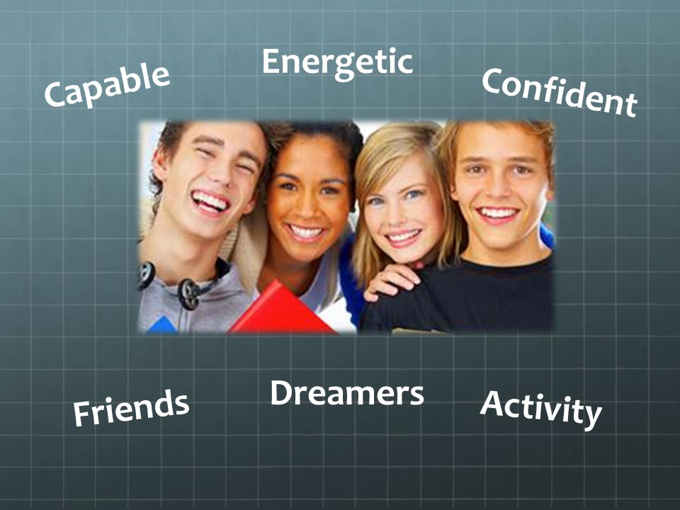 Energetic Confident Capable Dreamers Friends Activity