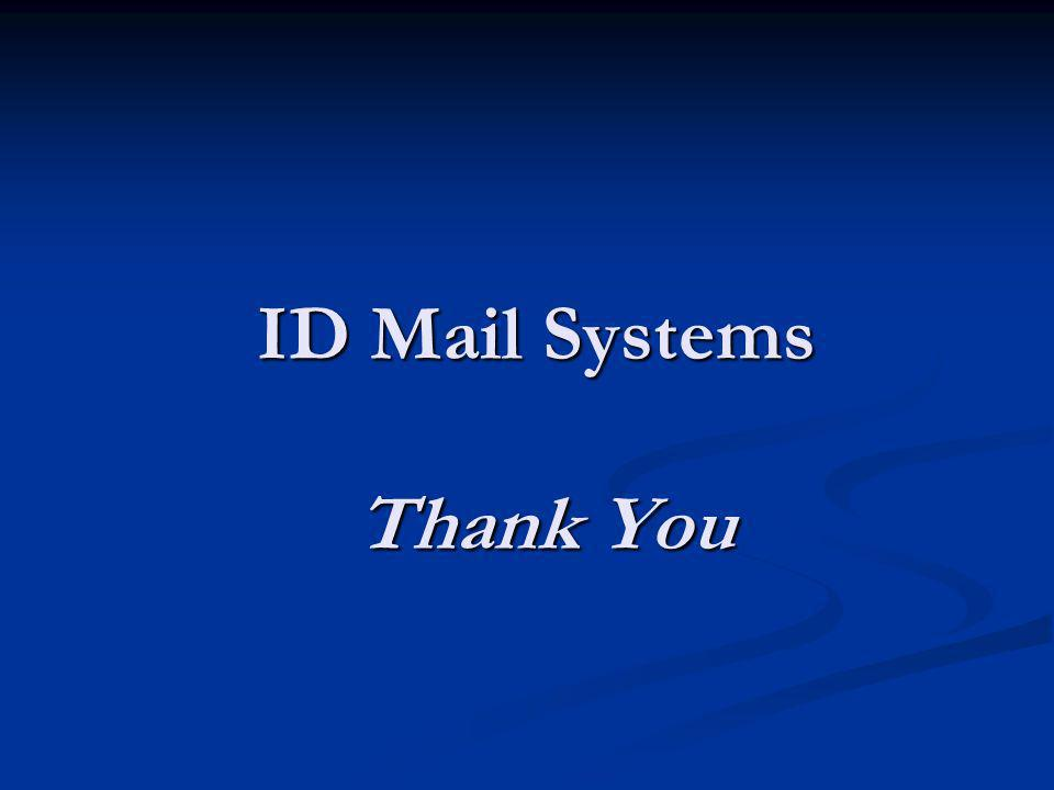 ID Mail Systems Thank You
